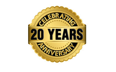 We are celebrating our 20th Anniversary